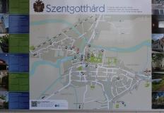 Szentgotthárd térképe.
