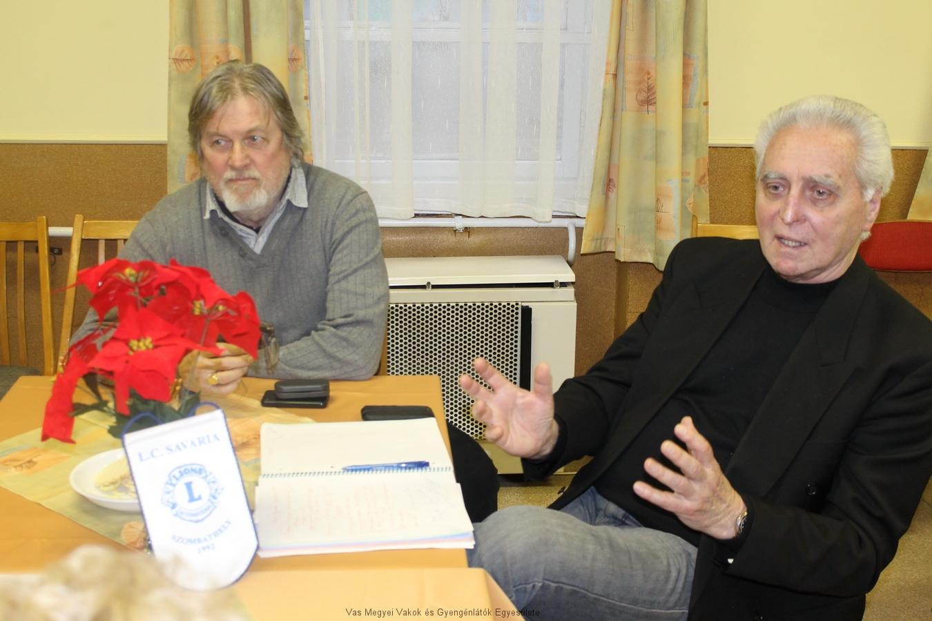Zsámboki Árpád és Márkus Árpád a LIONS klub képviseletében.