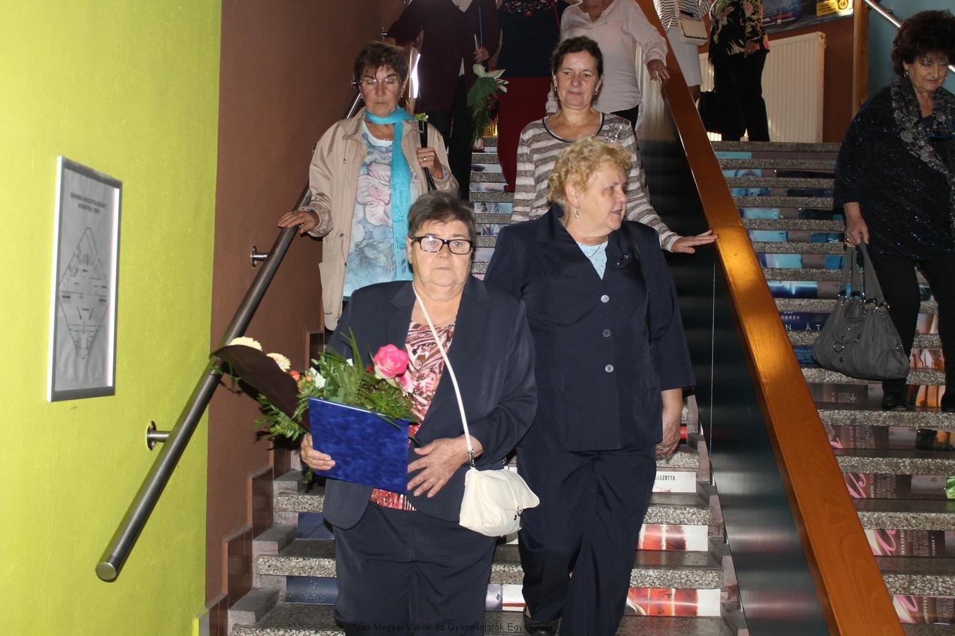 Hugi és Nagyné Marika az ünnepség után.