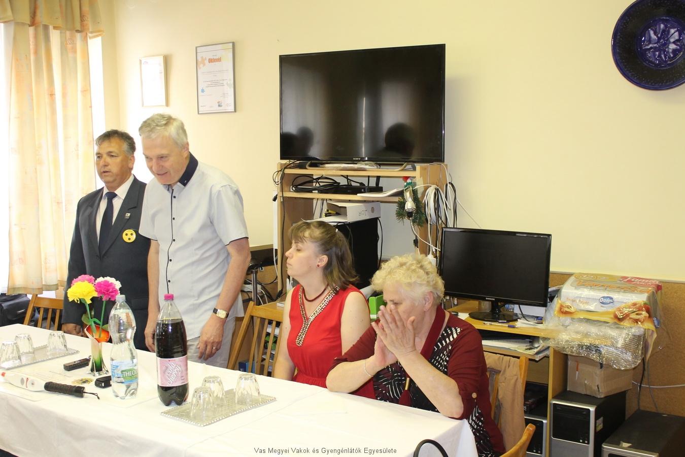 Dr. Nagy Sándor az MVGYOSZ elnöke,  és felesége voltak a Közgyűlés vendégei. A TÁVSZEM programot mutatták be.