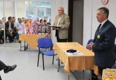 Bősze György elnök úr és Csider Sándor megnyitják az ünnepséget.